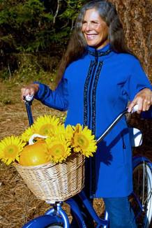 BOREALIS JACKET / (Softshell) / Pacific Blue, / Velvet-Blue (trim)