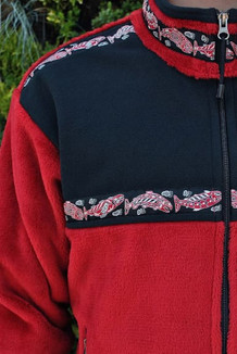 KODIAK JACKET / - SALE - CLOSEOUT - / (Windblock Fleece) / Red Hi-Loft, Black, / Salmon-Red (trim)