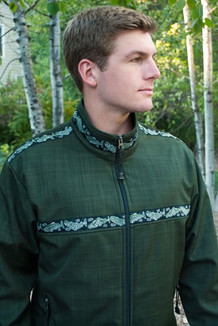 TUNDRA JACKET / (Softshell) / Fjord, / Salmon-Green (trim)
