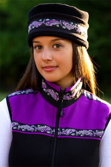 WOMEN'S KODIAK VEST / (Softshell) / Black, Razzleberry, / Salmon-Purple (trim)