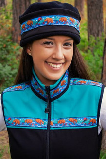 WOMEN'S KODIAK VEST / (Softshell) /  Black, Copper Green, / Katmai-Teal (trim)