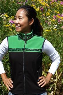 WOMEN'S KODIAK VEST / (Hybrid)  / Black, Spring Green, / Velvet-Green (trim)