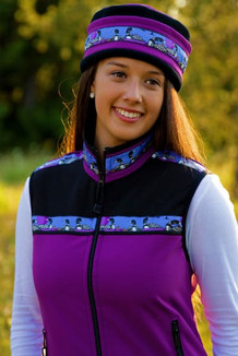 WOMEN'S KODIAK VEST / (Softshell) /  Razzleberry, Black, / Loons-Blue (trim)