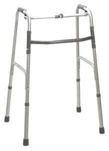 Folding 2-button walker, junior, no wheels, case of 4 (4321024)