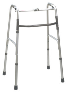 Folding 2-button walker, oversize, no wheels, case of 2 (4321042)