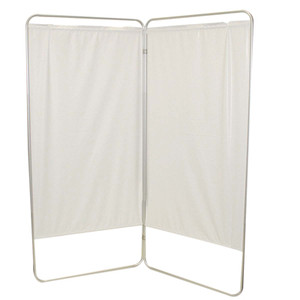 """King size 2-Panel Privacy Screen - White 6 mil vinyl, 69"""" W x 68"""" H extended, 31"""" W x 68"""" H x1.5"""" D folded (650120W)"""