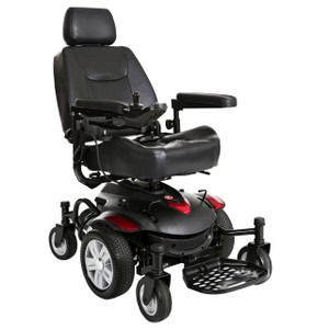 "Titan AXS Mid-Wheel Power Wheelchair, 18""x18"" Captain Seat"