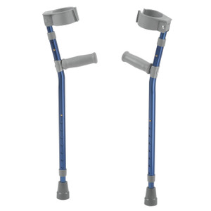 Pediatric Forearm Crutches, Large, Knight Blue, Pair