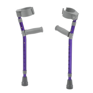 Pediatric Forearm Crutches, Large, Wizard Purple, Pair