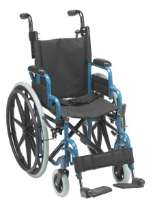"Wallaby Pediatric Folding Wheelchair, 14"", Jet Fighter Blue"