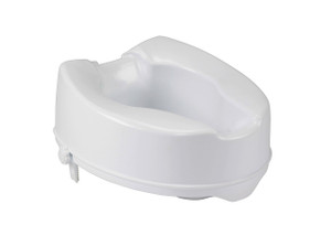 Raised Toilet Seat with Lock, Standard Seat, 6""