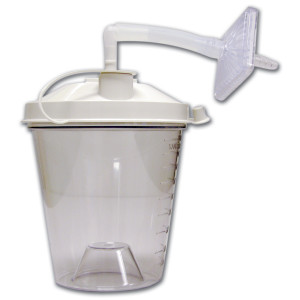 Disposable Suction Canisters, 800CC, Pack of 12