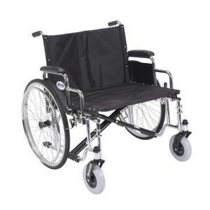 "Sentra EC Heavy Duty Extra Wide Wheelchair, Detachable Desk Arms, 26"" Seat"