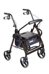 Duet Dual Function Transport Wheelchair Rollator Rolling Walker, Black