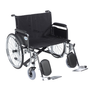 """Sentra EC Heavy Duty Extra Wide Wheelchair, Detachable Full Arms, Elevating Leg Rests, 30"""" Seat"""