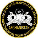STICKER US UNIT Combined Joint Special Operations Task Force - Afghanistan B