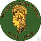 STICKER US ARMY VET WOMEN'S ARMY CORPS WACs