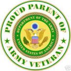 STICKER US ARMY VET PROUD PARENT
