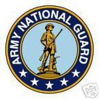 STICKER US ARMY VET NATIONAL GUARD SHIELD