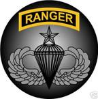 STICKER US ARMY VET FORCE RANGER SENIOR PARACHUTE