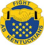 STICKER US ARMY UNIT Kentucky - Army National Guard