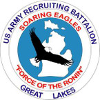 STICKER US ARMY UNIT Great Lakes Recruiting Battalion