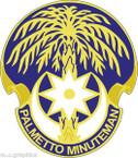 STICKER US ARMY UNIT ARNG - South Carolina