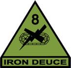 STICKER US ARMY UNIT 8th Armor Div. SHIELD SUB