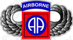STICKER US ARMY UNIT 82ND AIRBORME ALL AMERICAN WINGS