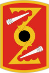 STICKER US ARMY UNIT 72nd Field Artillery Brigade SHIELD