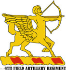 STICKER US ARMY UNIT 6th Field Artillery Regiment with Text