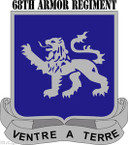 STICKER US ARMY UNIT 68TH Armor Regiment with Text