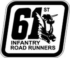 STICKER US ARMY UNIT 61ST INFANTRY REG SHIELD