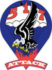 STICKER US ARMY UNIT 517th Parachute Infantry Regiment 1943 SHIELD