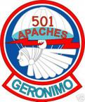 STICKER US ARMY UNIT 501ST AIRBORNE INFANTRY