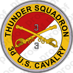 STICKER US ARMY UNIT 4th Squadron 3rd Armored Cavalry Regiment