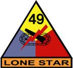 STICKER US ARMY UNIT 49th Armor Div. SHIELD COLOR