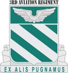 STICKER US ARMY UNIT 3rd Aviation Regiment