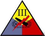STICKER US ARMY UNIT 3rd Armor Corps SHIELD COL