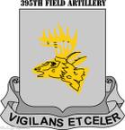 STICKER US ARMY UNIT 395th Field Artillery Regiment