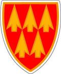 STICKER US ARMY UNIT 32ND AADCOM SHIELD COL