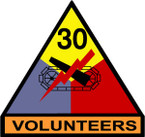 STICKER US ARMY UNIT 30th Armor Div. SHIELD COLOR