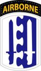 STICKER US ARMY UNIT 2nd Airborne Infantry Brigade SHIELD