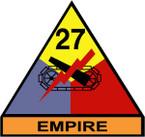 STICKER US ARMY UNIT 27th Armor Div. SHIELD COLOR