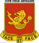 STICKER US ARMY UNIT 25th Field Artillery Regiment with Text
