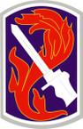 STICKER US ARMY UNIT 198th Infantry Brigade SHIELD