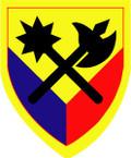 STICKER US ARMY UNIT 194th Armor Brigade SHIELD