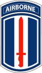 STICKER US ARMY UNIT 193rd Infantry Brigade Tab