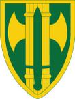 STICKER US ARMY UNIT 18th MP Brigade SHIELD