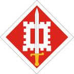 STICKER US ARMY UNIT 18th Engineer Brigade SHIELD